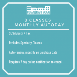 8 Classes Monthly Autopay
