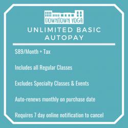 Unlimited Basic Classes Autopay