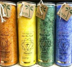 Unscented Chakra Jar Candles