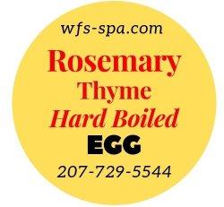 Rosemary Thyme Hard Boiled Egg