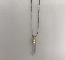 Crystal Necklace (with lava bead)
