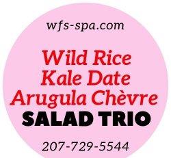 SALAD Trio Wild Rice Kale Date Arugula Chevre