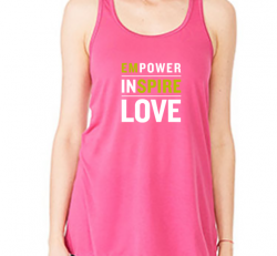 Power In Love Flowy Racerback Tank