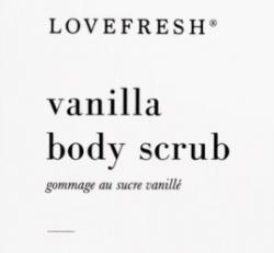 Love Fresh - Vanilla Sugar Scrub