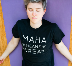 Unisex MAHA MEANS GREAT T-shirt MEDIUM