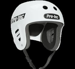 (XS) ProTec Full Cut Classic Gloss White Helmet
