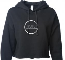 Black Cropped Sweatshirt (SAS5B)
