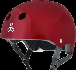 (M) T8 Red Metallic Helmet