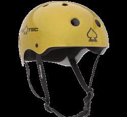 (S) ProTec Classic Gold Flake Helmet