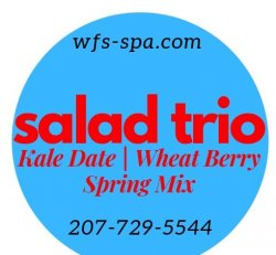 SALAD TRIO Kale Date | Wheat Berry|Spring Mix
