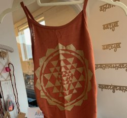SHIRT: Tank Copper Ruched - Sri Chakra