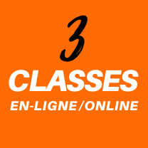 3 cours en ligne - 3 classes online live