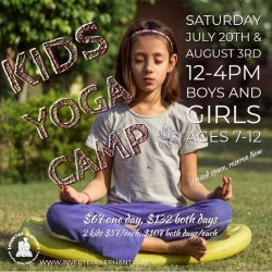 2 Day Package - Kids Summer Yoga Camp