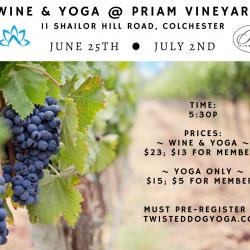 Wine & Yoga at the Vineyard
