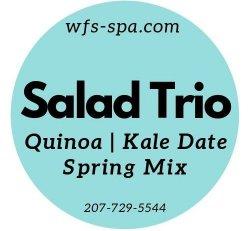 SALAD Trio Quinoa Kale Date Spring Mix