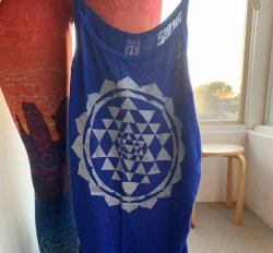 SHIRT: Tank Royal Blue - Sri Chakra