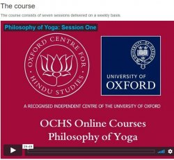 Philosophy of Yoga from Oxford University