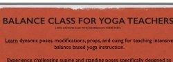 Balance Class for Yoga Teachers