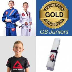 GB JUNIORS STARTER PACK – (Gracie Barra Gi, rash guard, belt + 1 months training FREE)