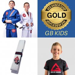 GB KIDS STARTER PACK – (Gracie Barra Gi, rash guard, belt + 1 months training FREE)