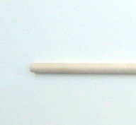 White Wax Wood Single Headed Staff