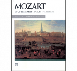 MOZART: 14 Of His Easiest Pieces for the Piano