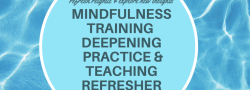 Mindfulness Teacher Training - Deepening Your Practice Refresher Courses Live Online