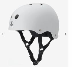 (XL) T8 Sweatsaver White Rubber Helmet