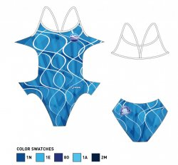 South West Swim Team Ladies Open Back Costume