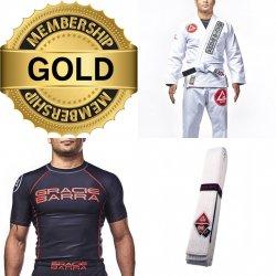 Adult Starter pack (Uniform - Gracie Barra Gi, rash guard, belt + 1 months training)