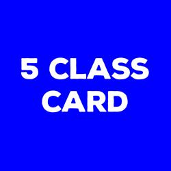5 Class Card (In Studio)