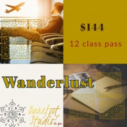 WANDERLUST  12 class Pass- good 180 days from date of purchase