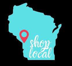 Shop Local Wisconsin Sticker