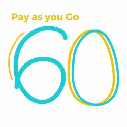 Pay as you go membership - 60 min classes