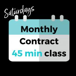 MONTHLY - FRI/SAT/SUN 45 min class