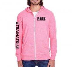 Pink Zipper longsleeve Light Hoodie - Neon Pink