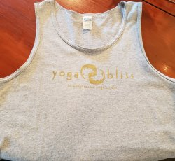 Light Gray Tank Top Yoga Bliss Logo SS