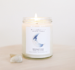 JaxKelly Candle (Moonstone) - Bring Good Luck