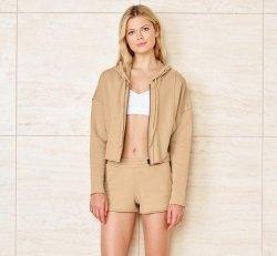 Cruiser crop jacket (putty) - S