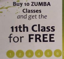 Dance Class - Punch Card
