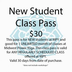 New Student - 30 days of Unlimited Yoga
