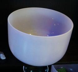 "Crystal Bowl - 14"" Amethyst Infused"