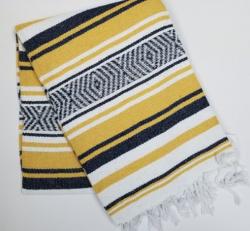372 Yoga Blanket (Navy/Yellow/White)