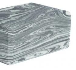 "373 Yoga Block (marbled):  Studio 4""  (4"" x 6"" x 9"")"