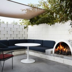 PAYMENT PLAN: From the Ground Up; EMPOWERED MAT PILATES EDUCATIONAL RETREAT January 2020 - Ace Hotel Palm Springs: Patio Fireplace