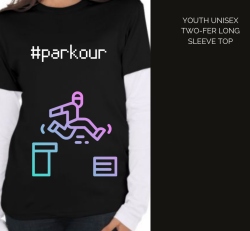 Youth Two Colour Long sleeve - Black and White