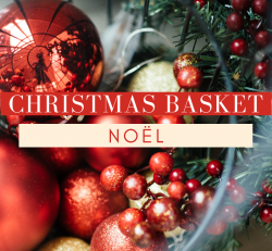 NOËL Christmas Basket