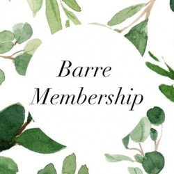 Barre Membership- $50/month for 6 months