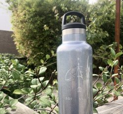 soFly Social Insulated 20oz Water Bottle: Moonstone