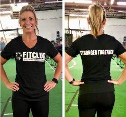 Ladies V-Neck Stronger Together Tee